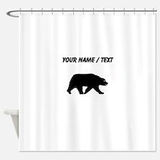 Custom Bear Walking Silhouette Shower Curtain