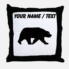 Custom Bear Walking Silhouette Throw Pillow