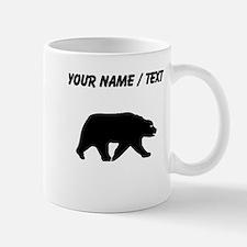 Custom Bear Walking Silhouette Mugs