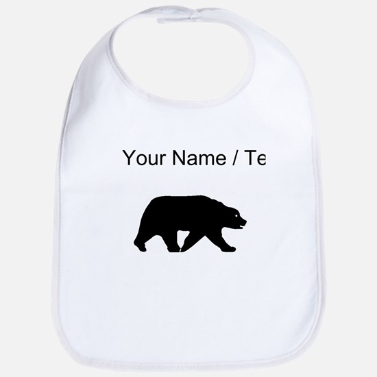 Custom Bear Walking Silhouette Bib