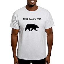 Custom Bear Walking Silhouette T-Shirt