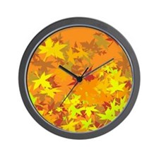maple leaves for thanksgiving Wall Clock