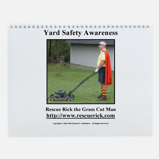 Yard Safety Awareness Wall Calendar
