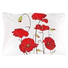 Red Poppies Pillow Case