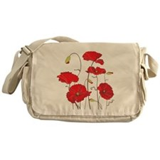 Red Poppies Messenger Bag