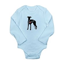Whippet Love Long Sleeve Infant Bodysuit
