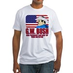 G.W. Bush vs. Dictators Fitted T-Shirt