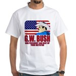 G.W. Bush vs. Dictators White T-Shirt