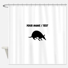 Custom Armadillo Silhouette Shower Curtain