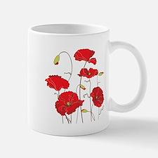 Red Poppies Mugs