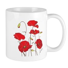 Red Poppies Mugs