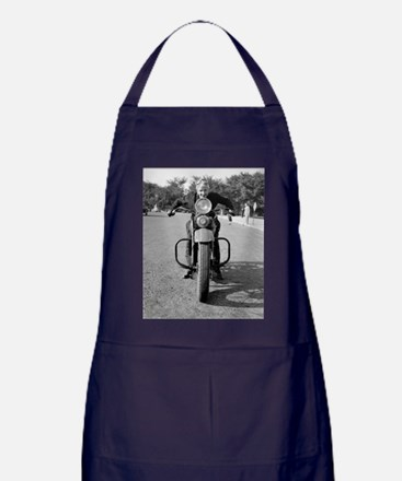Girl Riding Motorcycle, 1937 Apron (dark)