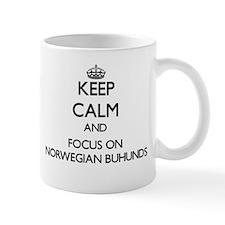 Keep calm and focus on Norwegian Buhunds Mugs