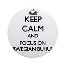 Keep calm and focus on Norwegian Ornament (Round)