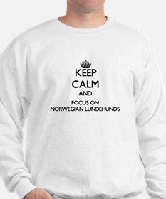 Keep calm and focus on Norwegian Lundeh Sweatshirt