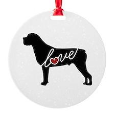 Rottweiler / Rottie Love Ornament