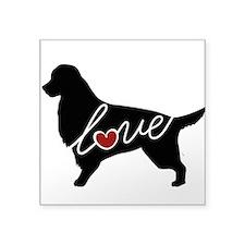 "Irish Setter Love Square Sticker 3"" x 3"""