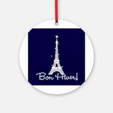Bon Hiver Ornament (Round)