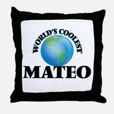 World's Coolest Mateo Throw Pillow