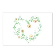 Floral Heart Postcards (Package of 8)