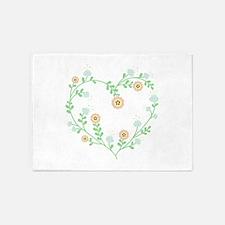 Floral Heart 5'x7'Area Rug