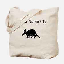 Custom Aardvark Silhouette Tote Bag