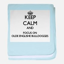 Keep calm and focus on Olde Englishe baby blanket