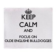 Keep calm and focus on Olde Englishe Throw Blanket