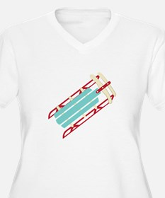 Snow Sled Plus Size T-Shirt