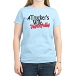 A Trucker's Wife - Faithfull Women's Light T-Shirt