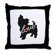 Yorkie Love Throw Pillow