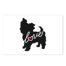 Yorkie Love Postcards (Package of 8)