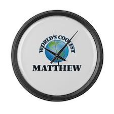 World's Coolest Matthew Large Wall Clock