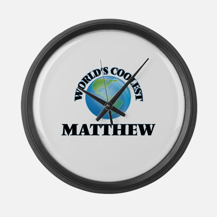 World's Coolest Matthew Large Wall Clock