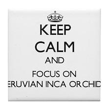 Keep calm and focus on Peruvian Inca Tile Coaster