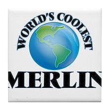 World's Coolest Merlin Tile Coaster
