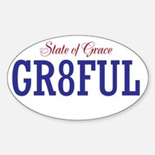 Gr8ful State Of Grace Oval Bumper Decal
