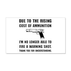 Ammunition Warning Shot Wall Decal