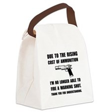 Ammunition Warning Shot Canvas Lunch Bag