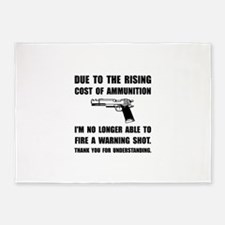 Ammunition Warning Shot 5'x7'Area Rug