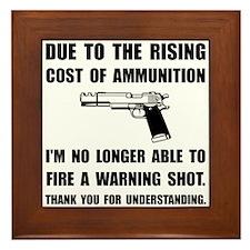 Ammunition Warning Shot Framed Tile