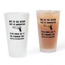 Ammunition Warning Shot Drinking Glass