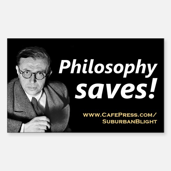 """Philosophy Saves!"" Sticker (Rectangle)"