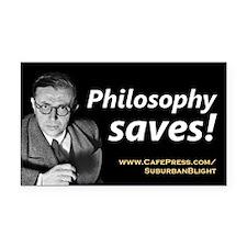 """Philosophy Saves!"" Rectangle Car Magnet"