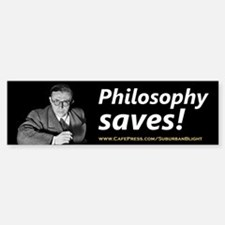 """Philosophy Saves!"" Bumper Bumper Sticker"