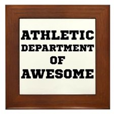Athletic Department Awesome Framed Tile