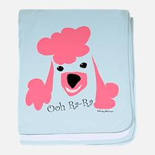 Pink Poodle baby blanket