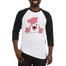Pink Poodle Baseball Jersey