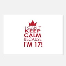 I cant keep calm because Im 17 Postcards (Package