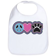 Peace Love Paws Bib
